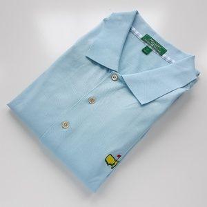 Masters By Peter Millar Baby Blue Polo Shirt XL